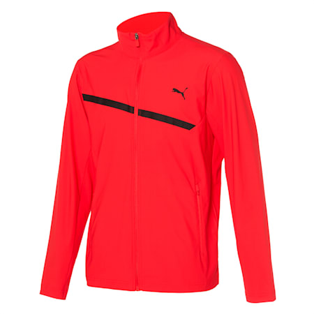 마하 트리코트 트레이닝 자켓, poppy red, small-KOR