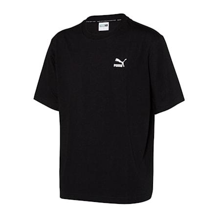 클레식 아카이브 로고 반팔 티셔츠/Classics Archive Logo Tee, puma black, small-KOR
