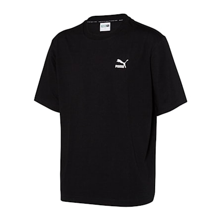 클레식 아카이브 로고 반팔 티셔츠, puma black, small-KOR