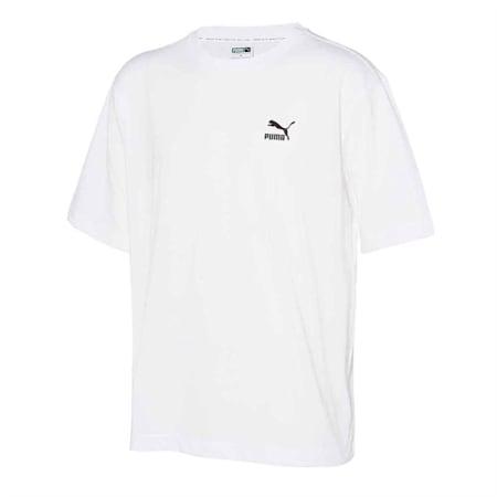 클레식 아카이브 로고 반팔 티셔츠, puma white, small-KOR
