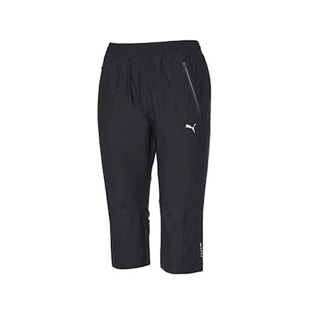 마하 캣 트리코트 3/4 팬츠/Mach Cat Tricot 3/4 Pants W, puma black, small-KOR