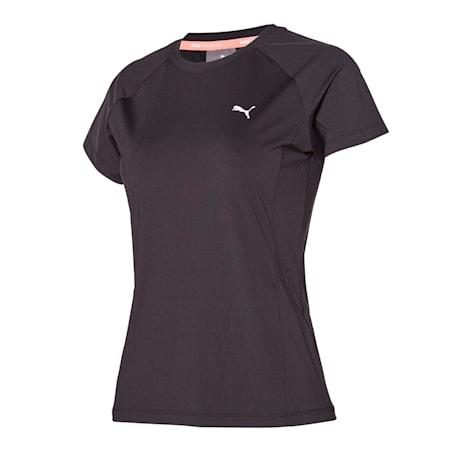 코어 트레이닝 나일론 반팔 티셔츠, puma black, small-KOR