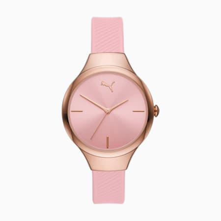 Reloj de poliuretano rosado con tres agujas PUMA Contour, Pink, small