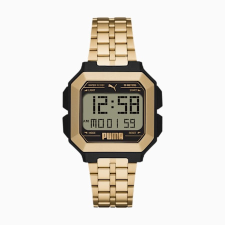 REMIX Stainless Steel Unisex Digital Watch, Gold/Black, small