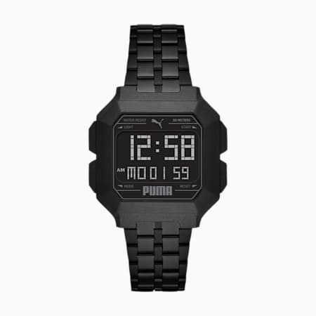 REMIX Stainless Steel Unisex Digital Watch, Black/Black, small