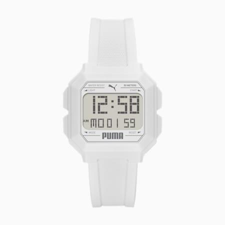 REMIX Unisex Digitaluhr, White/White, small