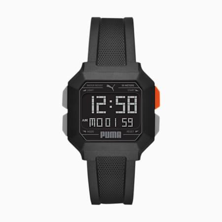 Montre numérique REMIX Unisex, Black/Black, small