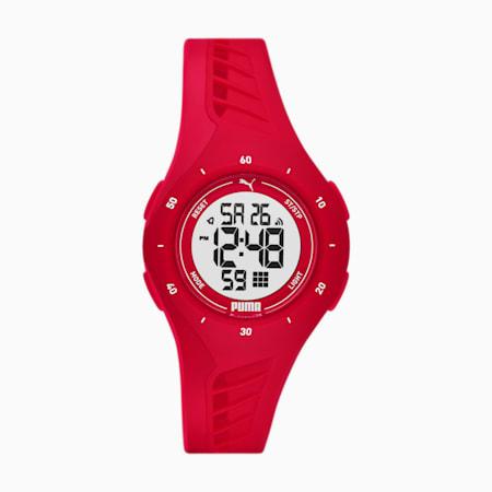 Reloj digital de silicona PUMA para mujer, Rojo, pequeño