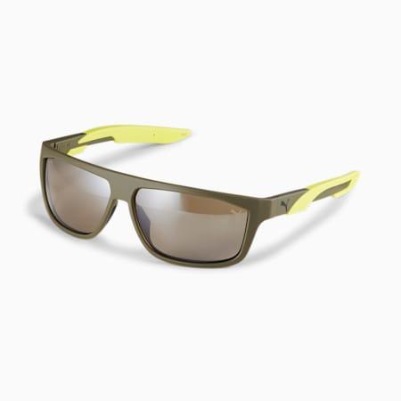 Gafas de sol Storm Huntpara hombre, VERDE-VERDE-MARRÓN, pequeño