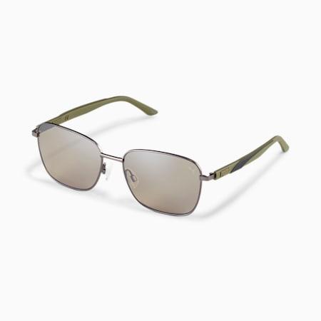 Gafas de sol con franja característica, RUTHENIUM-GREEN-BROWN, pequeño
