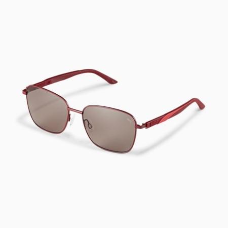 Gafas de sol con franja característica, BURGUNDY-BURGUNDY-GREY, pequeño