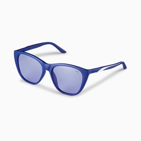 Gafas de sol con franja característica para mujer, BLUE-BLUE-VIOLET, pequeño