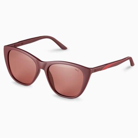 Gafas de sol con franja característica para mujer, BURGUNDY-BURGUNDY-ROJO, pequeño