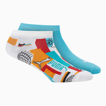PUMA INTL Graphic Unisex Sneaker Socks Pack of 2, Puma Black, small-IND
