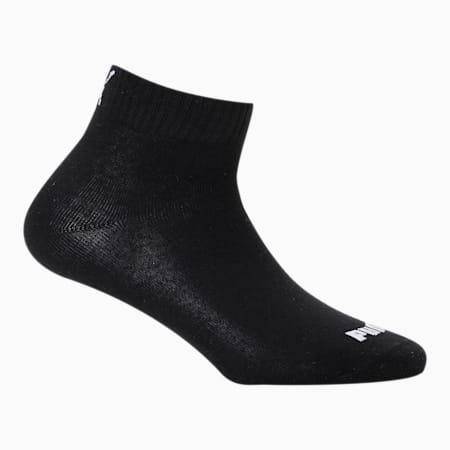 PUMA Unisex Plain Quarter Socks Pack of 3, Black/ Black/ Black, small-IND