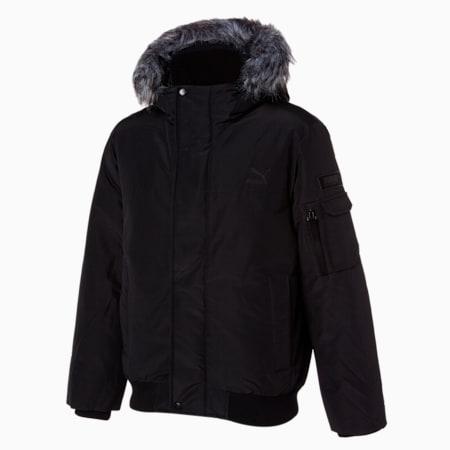 숏 에코 퍼 다운 자켓/Short Eco Fur Down Jacket, puma black, small-KOR