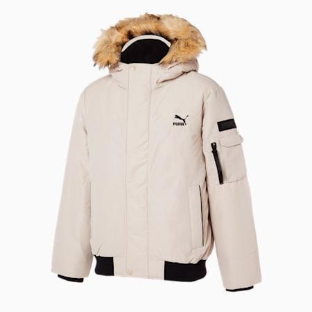 숏 에코 퍼 다운 자켓/Short Eco Fur Down Jacket, peyote, small-KOR