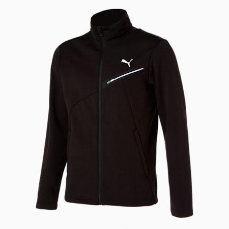 코어 니트 플리스 트레이닝 자켓/Core Knit FL Trainning JKT, puma black, small-KOR