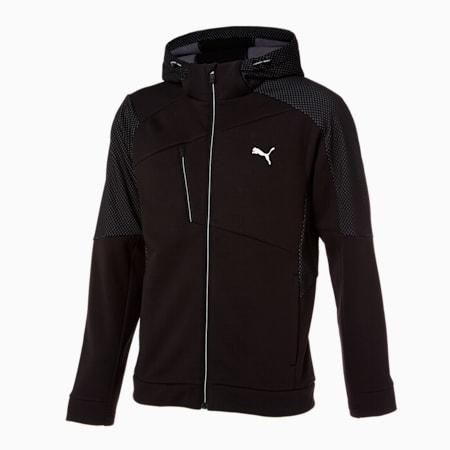 텍스처 니트 트레이닝 자켓/Texture Knit Trainning JKT, puma black, small-KOR
