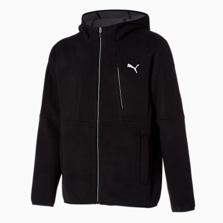 코어 플리스 B.D 후드 켓/Core Fleece B.D Hoody Jacket, puma black, small-KOR