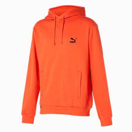 클래식스 엠브로이드 로고 후드 티 플리스/Classics Emb Logo Hoody FL, vibrant orange, small-KOR