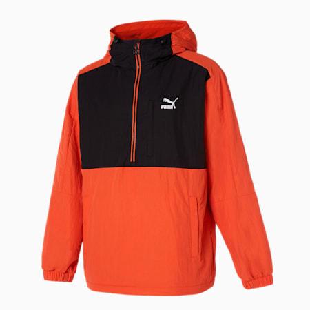 클래식스 엠브로이드 로고 아노락 자켓/Classics Emb Logo Anorak JK, vibrant orange, small-KOR