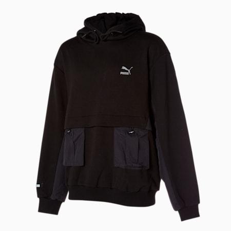 와일드 라이더 아웃 포켓 후드 티/Wild-Rider Out Pocket Hoody, puma black, small-KOR