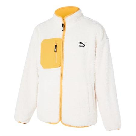 리버시블 쉐르파 자켓/Reversible Sherpa Jacket, ivory glow, small-KOR