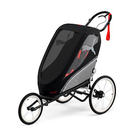 PUMA x CYBEX ZENO One Box Stroller, Black - Red, small
