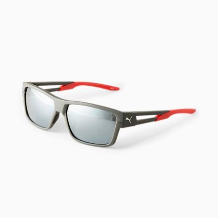 Gafas de sol PUMA Flash Ride para hombre, GRIS, pequeño
