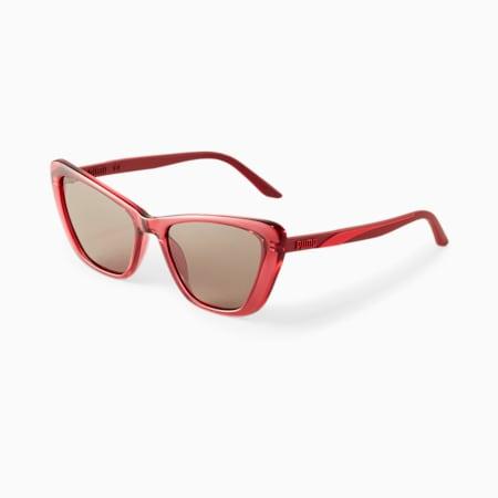 Damskie okulary przeciwsłoneczne PUMA Charming 2, BURGUNDY, small