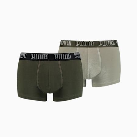 PUMA Basic Men's Trunks 2 pack, dark green combo, small