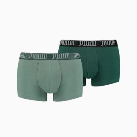 PUMA Basic Men's Trunks 2 pack, green combo, small