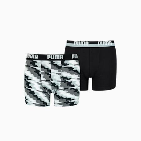 Boy's Glitch Boxer 2 pack, black combo, small-GBR