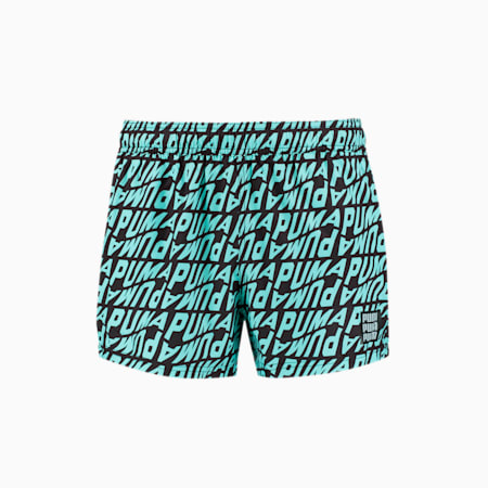 Swim Men's Wave All-Over-Print Short Swimming Shorts, blue combo, small-GBR