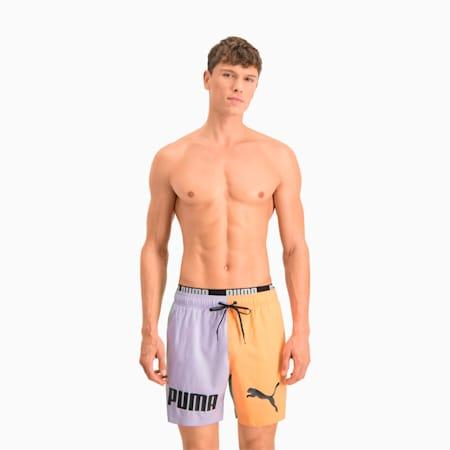 Shorts medi da nuoto con blocchi di colore uomo, mixed colors, small