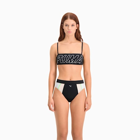 Zwembroekje dames met hoge taille, black combo, small