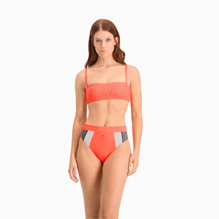 Swim Women's High Waist Brief, pink, small