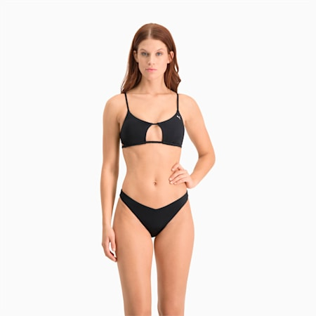 Damska góra od bikini z wycięciem Swim, black, small
