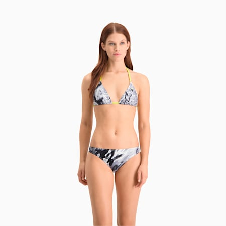 Haut de bikini triangle Swim All-Over-Print femme, grey combo, small