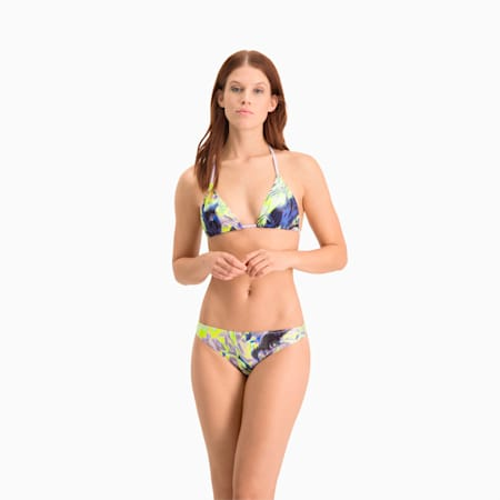 Haut de bikini triangle Swim All-Over-Print femme, purple combo, small