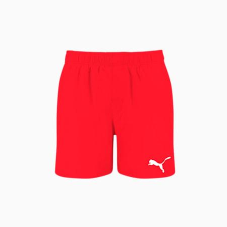 PUMA Swim Men's Mid Shorts, red, small-GBR