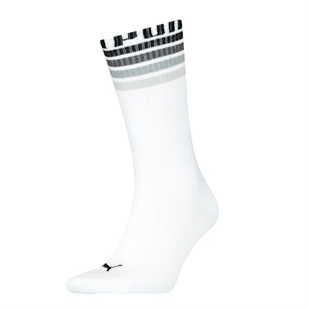 PUMA 1P Seasonal Crew Socks, white, small-SEA