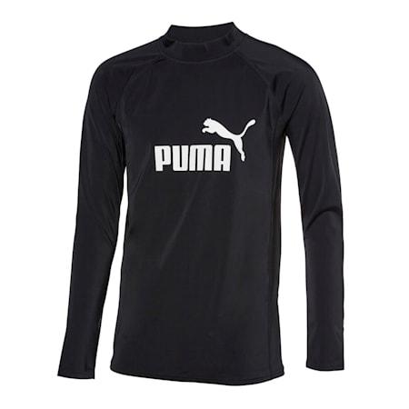 긴팔 래쉬가드 티셔츠 남성용/PUMA SWIM MEN LONG SLEEVE RA, black, small-KOR
