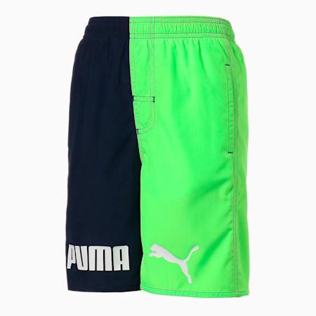 キッズ 水着 カラーブロック ボード ショーツ 120-160cm, navy / green, small-JPN