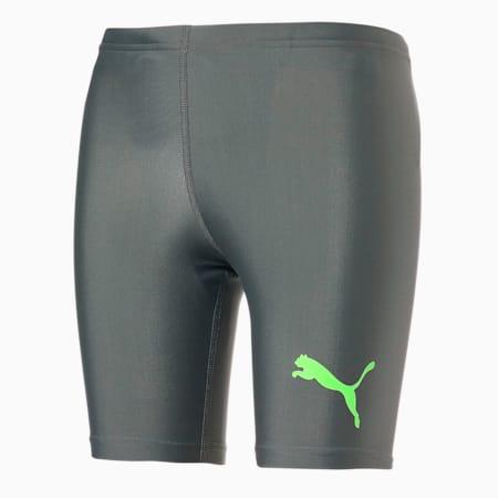 キッズ 水着 ラッシュ ショーツ 120-160cm, grey / green, small-JPN