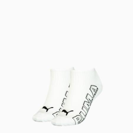 Lot de 2paires de chaussettes pour baskets à logo Outline pour femme, white combo, small