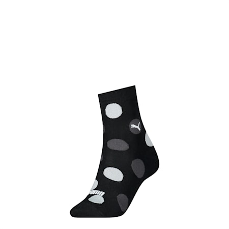 Women Printed Socks 1 Pack, black, small-SEA