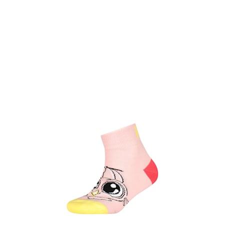 Kids' 1 Pack Quarter Socks, pink, small-SEA