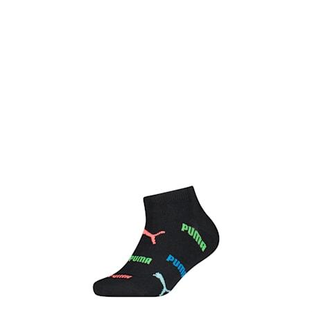 Kids' Lifestyle Trainer Socks 1 Pack, black, small-SEA